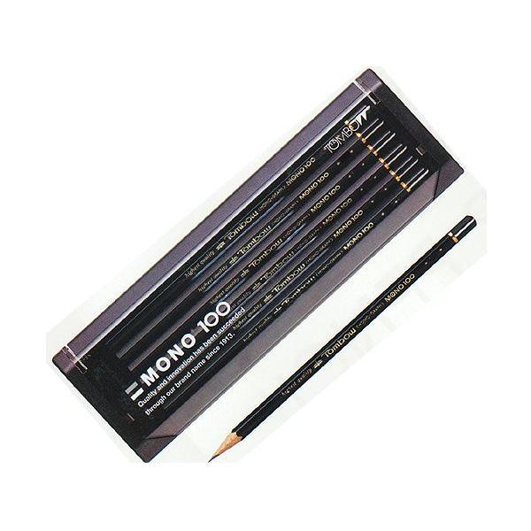 【金箔】トンボ鉛筆MONO高級鉛筆 モノ100 硬度:2B【無料・金箔名入れ】【卒園・入学記念品に】 10031450
