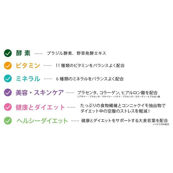 酵素ドリンク アサイー スムージー 選べる 酵素スムージー(全3種) ダイエット食品 スムージー アサイー マキべリー マンゴー 粉末  スーパーフード 約20杯分|cecellina|16