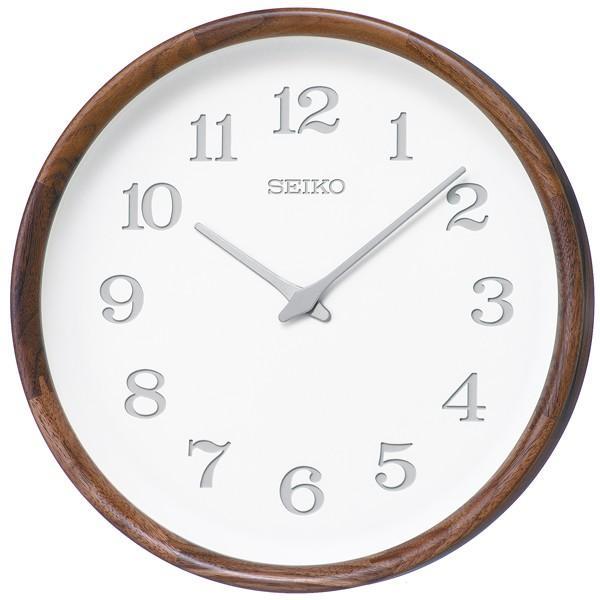 木の温もりを感じるセイコー掛け時計 SEIKO時計 nu・ku・mo・ri KX239B ウォルナット 天然木