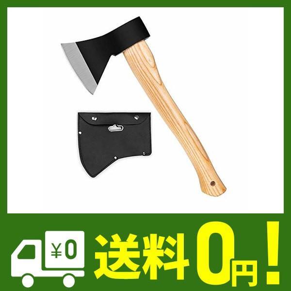 斧 野外キャンプ用品 薪割り 手斧 38cm 鉈 ガーデン用手斧 ケース付き 焚き火台|cecilia