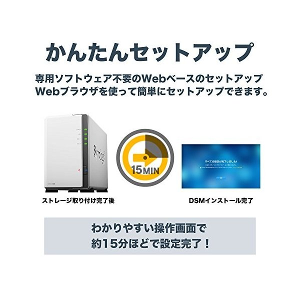 【NAS HDDセット】Synology DS218j & Seagate HDD [2ベイ / HDD IronWolf-4TBx2台同梱 / デュ|cecilia|04