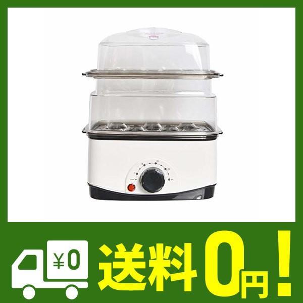 手軽でカンタン電気蒸し器「卓上ひとりフードスチーマー」 FODSTM01 【 スチームクッカー ゆで卵 蒸し野菜 中華まん 】|cecilia