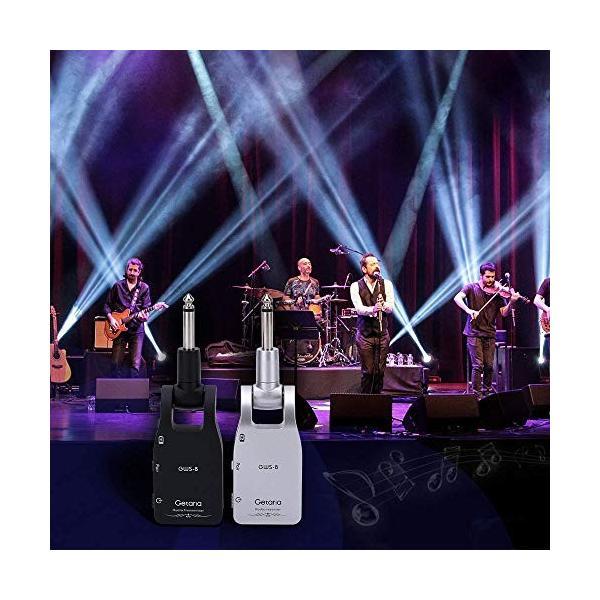 Getaria ギターワイヤレスシステム 2.4GHz無線 送受信機 オーディオトランスミッタ&レシーバー USB充電ケーブル&オーディオ変換ケーブル cecilia 05