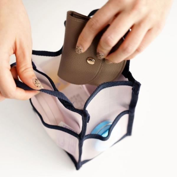 バッグインバッグ invite.L Mesh Bag in Bag Small メッシュ素材 インナーバッグ バッグインバッグ小さめ 収納バッグ