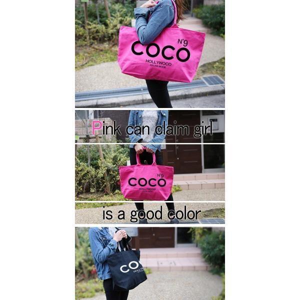 COCO トートバッグロゴNo9×HOLLYWOODハリウッド ジップ付 トートバッグ|celeb-honey|04