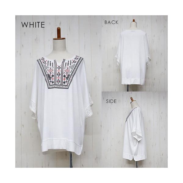 大きいサイズ レディース エスニック ドルマンチュニック Tシャツ トップス 流行りのネイティブ柄 celeb-honey 13