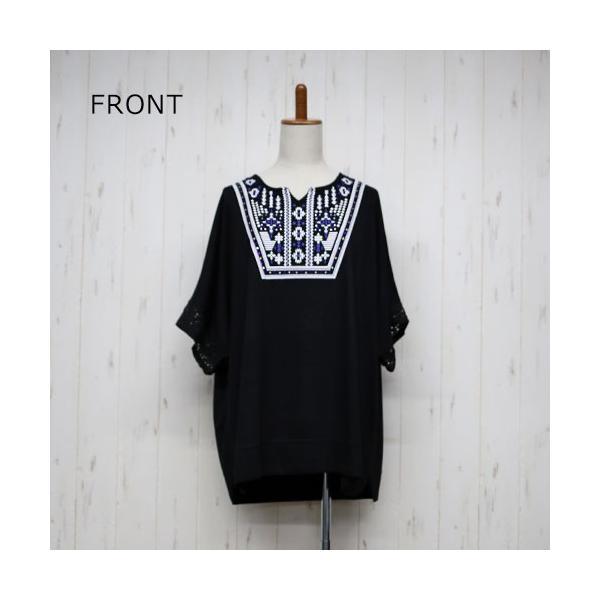 大きいサイズ レディース エスニック ドルマンチュニック Tシャツ トップス 流行りのネイティブ柄 celeb-honey 10