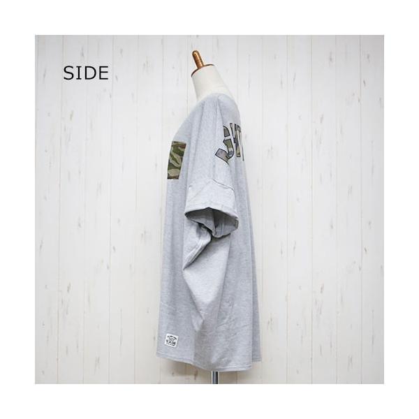 大きいサイズ レディース ドルマン カモフラポケット バックプリントあり ビッグドルマンTシャツ |celeb-honey|11