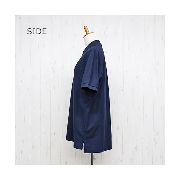 大きいサイズ レディース ファッション 半袖ポロシャツ ビッグポロシャツ 無地 鹿の子|celeb-honey|11