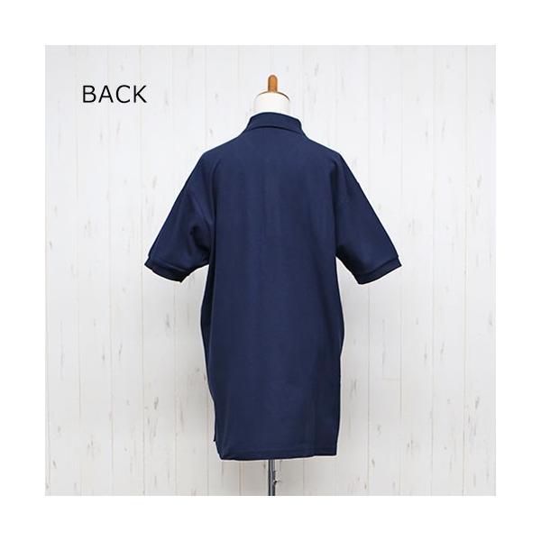 大きいサイズ レディース ファッション 半袖ポロシャツ ビッグポロシャツ 無地 鹿の子|celeb-honey|12