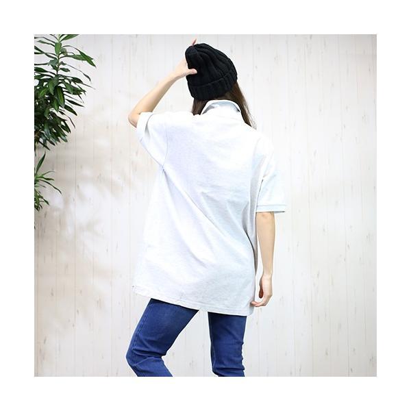 大きいサイズ レディース ファッション 半袖ポロシャツ ビッグポロシャツ 無地 鹿の子|celeb-honey|09