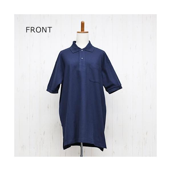 大きいサイズ レディース ファッション 半袖ポロシャツ ビッグポロシャツ 無地 鹿の子|celeb-honey|10