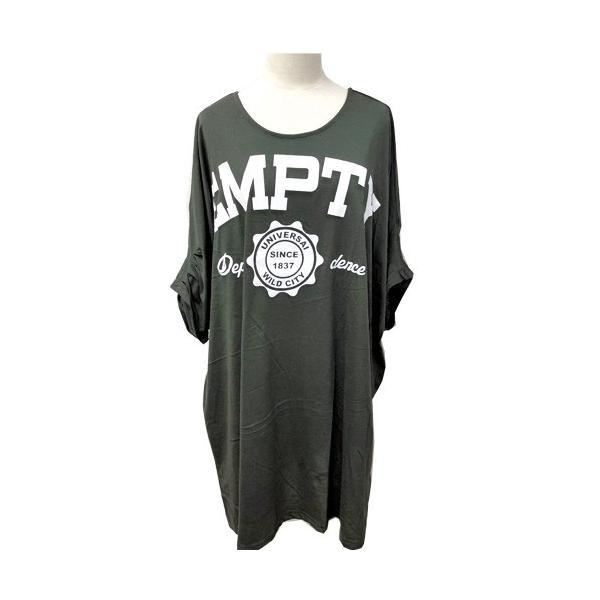 大きいサイズ レディース Tシャツ ドルマン オーバーサイズ ビック 英字ロゴプリント EMPTY ストリート/40代 50代 30代 春夏 2019ss(即納)|celeb-honey|12
