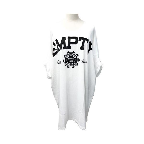 大きいサイズ レディース Tシャツ ドルマン オーバーサイズ ビック 英字ロゴプリント EMPTY ストリート/40代 50代 30代 春夏 2019ss(即納)|celeb-honey|13