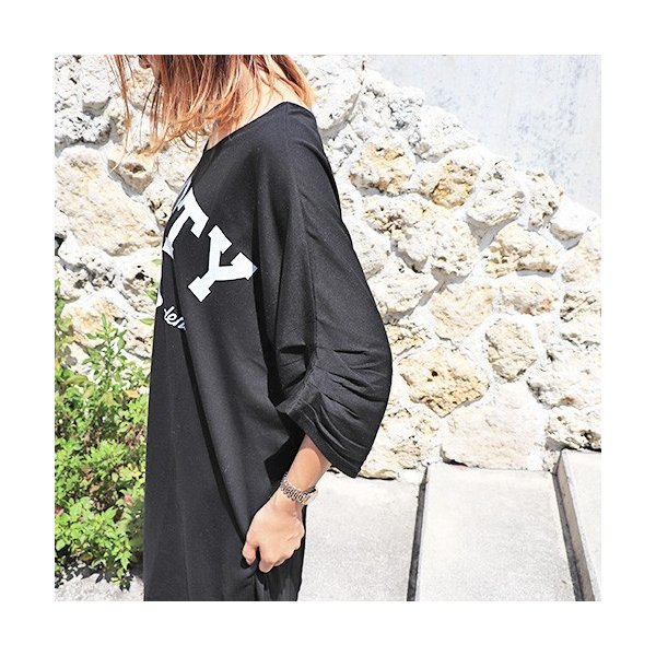 大きいサイズ レディース Tシャツ ドルマン オーバーサイズ ビック 英字ロゴプリント EMPTY ストリート/40代 50代 30代 春夏 2019ss(即納)|celeb-honey|03