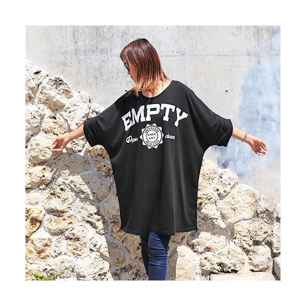 大きいサイズ レディース Tシャツ ドルマン オーバーサイズ ビック 英字ロゴプリント EMPTY ストリート/40代 50代 30代 春夏 2019ss(即納)|celeb-honey|09