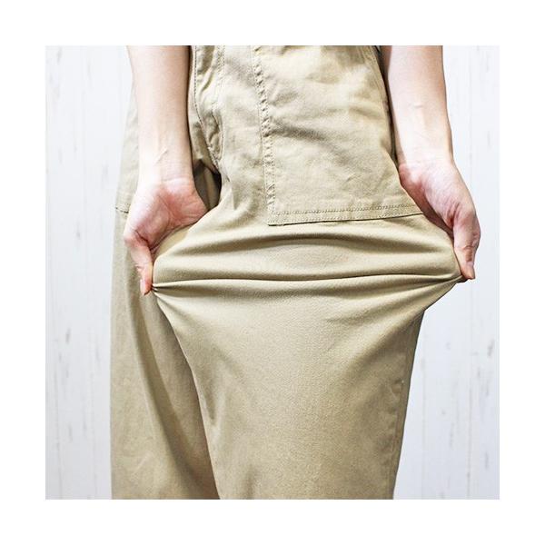 大きいサイズ レディース ツイルワイドベイカーパンツ/プラスサイズ 大きいサイズの服 トレンド カジュアル(取寄)|celeb-honey|02