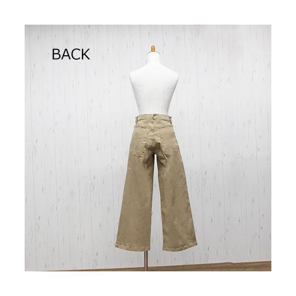 大きいサイズ レディース ツイルワイドベイカーパンツ/プラスサイズ 大きいサイズの服 トレンド カジュアル(取寄)|celeb-honey|12