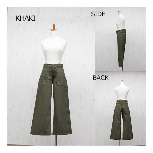 大きいサイズ レディース ツイルワイドベイカーパンツ/プラスサイズ 大きいサイズの服 トレンド カジュアル(取寄)|celeb-honey|13