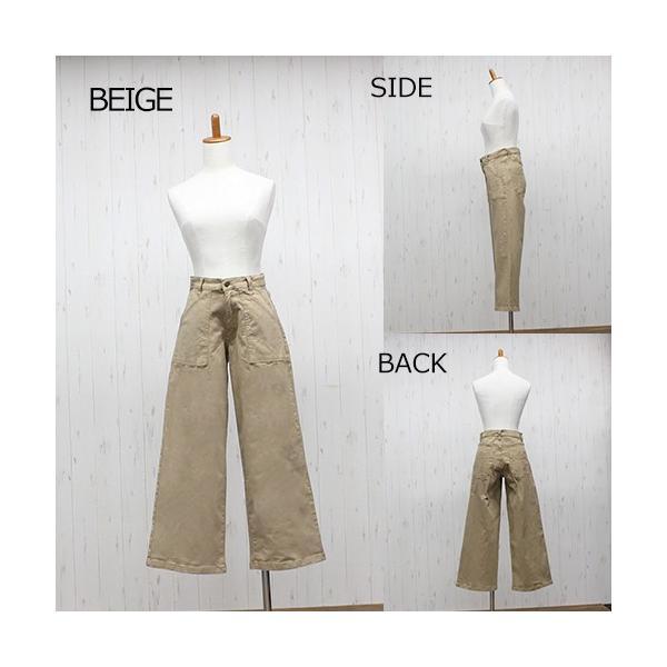 大きいサイズ レディース ツイルワイドベイカーパンツ/プラスサイズ 大きいサイズの服 トレンド カジュアル(取寄)|celeb-honey|14