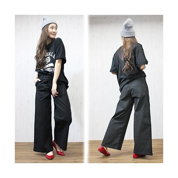 大きいサイズ レディース ツイルワイドベイカーパンツ/プラスサイズ 大きいサイズの服 トレンド カジュアル(取寄)|celeb-honey|07