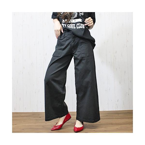 大きいサイズ レディース ツイルワイドベイカーパンツ/プラスサイズ 大きいサイズの服 トレンド カジュアル(取寄)|celeb-honey|08