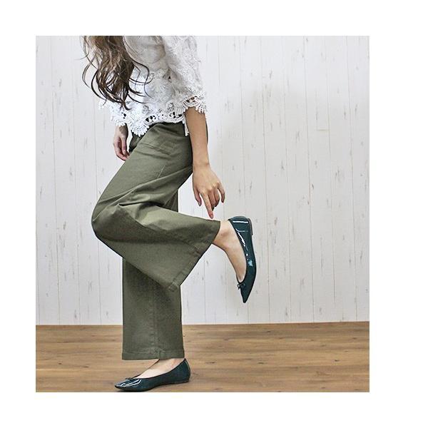大きいサイズ レディース ツイルワイドベイカーパンツ/プラスサイズ 大きいサイズの服 トレンド カジュアル(取寄)|celeb-honey|09