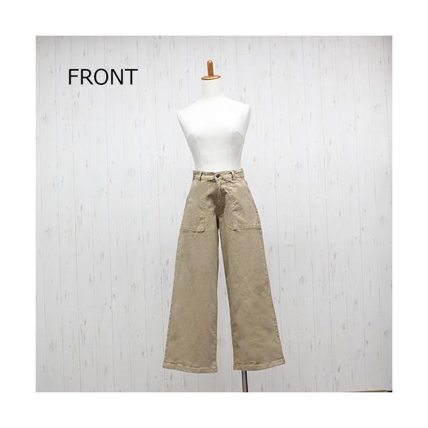 大きいサイズ レディース ツイルワイドベイカーパンツ/プラスサイズ 大きいサイズの服 トレンド カジュアル(取寄)|celeb-honey|10