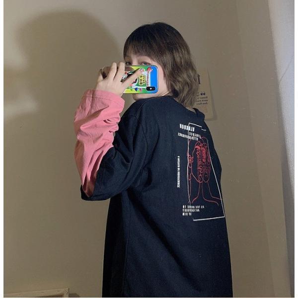 大きいサイズ レディース レイヤードトップス セレカジ重ね着 英字ロゴ オーバーサイズ ビック 長袖 /40代 50代 30代 秋冬 2019AW(取寄)|celeb-honey|07