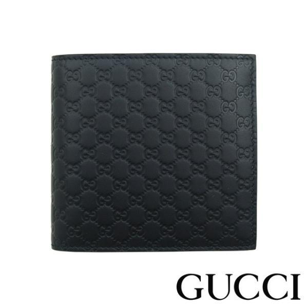 size 40 7464e 9acb5 グッチ 財布 メンズ 二つ折り 新品 GUCCI 15041 小銭入れ付き ブラック