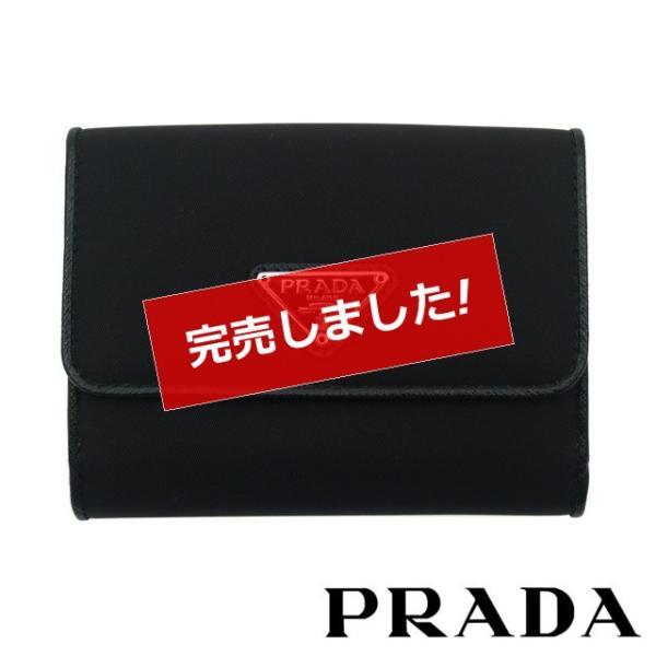 f3f6fa7d7062 プラダ 財布 二つ折り レディース メンズ 新品 PRADA ナイロン 1MH523 UZ0 F0002 celeb ...