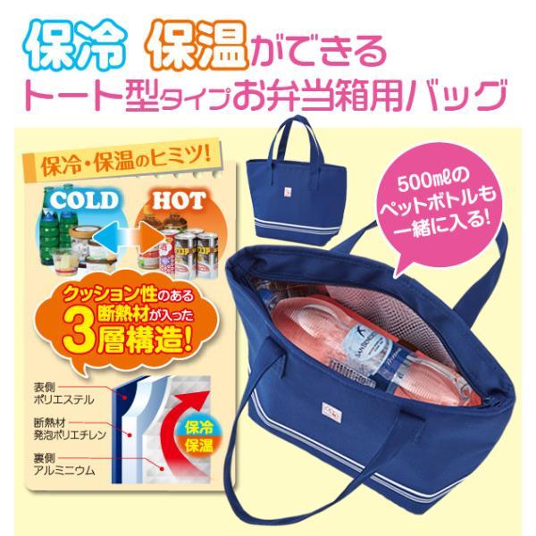 【トート型保冷温お弁当バッグ ネイビー】ランチバッグ 保冷バッグ おしゃれ 大きめ お弁当 大容量|celife|02