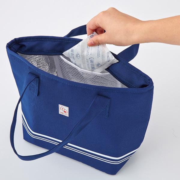 【トート型保冷温お弁当バッグ ネイビー】ランチバッグ 保冷バッグ おしゃれ 大きめ お弁当 大容量|celife|10