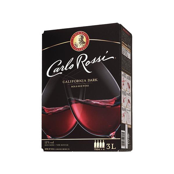 ワイン ボックスワイン 箱ワイン 赤 カルロ ロッシ ダーク バッグ イン ボックス 3L ボックスワイン BOX カルロロッシ 750ml換算389円(税別)