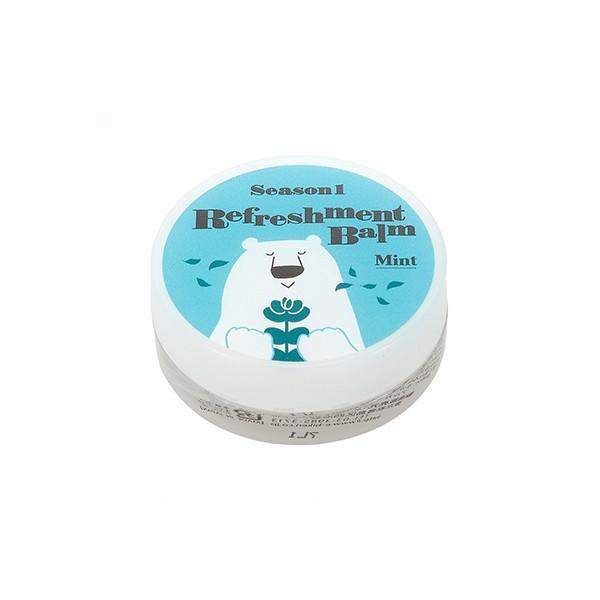 白くまマスク 白くまマスク リフレッシュメントバーム ミント / 保湿バーム 花粉症対策 風邪対策の画像