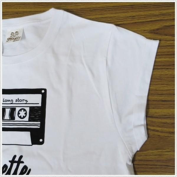 MagicMind マジックマインド 半袖 ロールアップ ショート丈 Tシャツ カセットテープ 1163-S プリントTシャツ|centas|04
