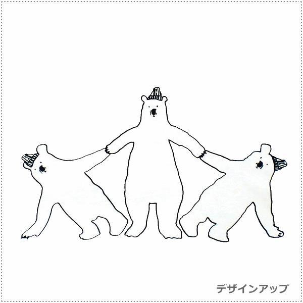 MagicMind マジックマインド  ガーゼ 裏毛 パーカー  シロクマ組体操 centas 07