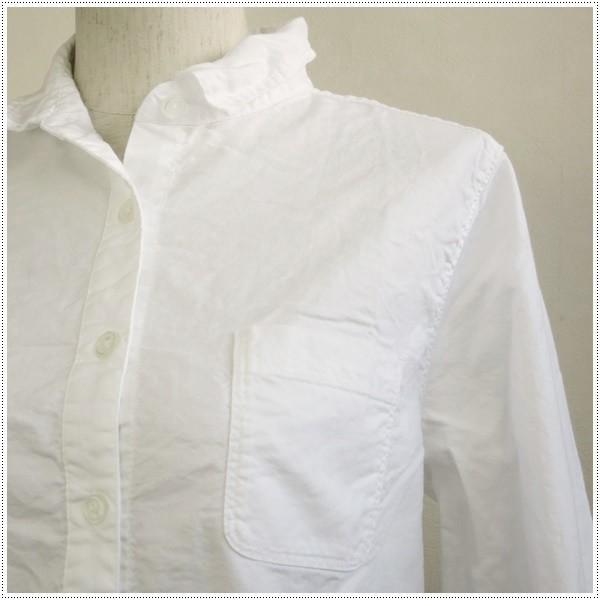 Sun Valley サンバレー 無地長袖オックスレギュラーシャツ SKT001006 レディース 製品染め 長袖シャツ オックスシャツ 綿|centas|04
