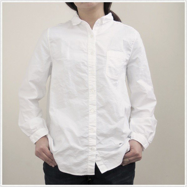 Sun Valley サンバレー 無地長袖オックスレギュラーシャツ SKT001006 レディース 製品染め 長袖シャツ オックスシャツ 綿|centas|06