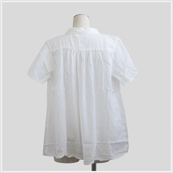 SALE 20%OFF SunValley サンバレー 無地ボイルシャツ SK5001176 レディース 製品染め ブラウス 綿|centas|03