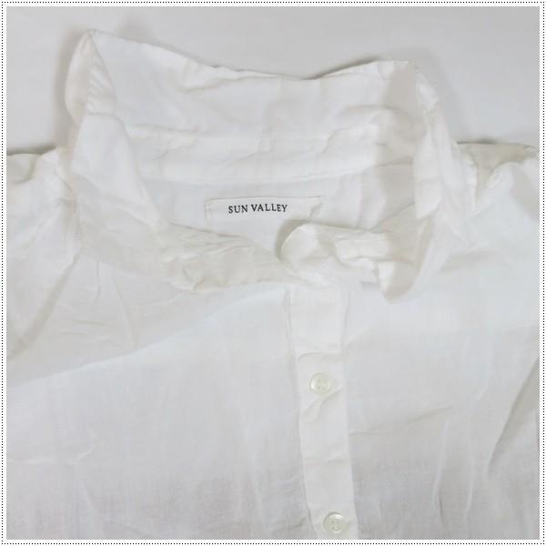 SALE 20%OFF SunValley サンバレー 無地ボイルシャツ SK5001176 レディース 製品染め ブラウス 綿|centas|05