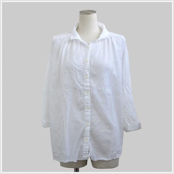 SunValley サンバレー  無地8分袖ボイルギャザーシャツ  SKT002007 製品染め レディース 綿 ブラウス|centas|03