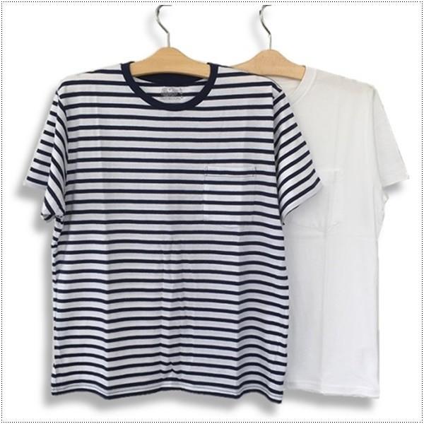 FRUIT OF THE LOOM 922-FRDH1 クルーネック ホワイトTシャツ+ボーダーTシャツ2枚セット フルーツオブザルーム|centas|02