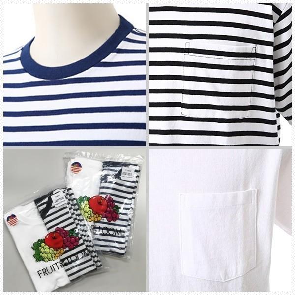 FRUIT OF THE LOOM 922-FRDH1 クルーネック ホワイトTシャツ+ボーダーTシャツ2枚セット フルーツオブザルーム|centas|04