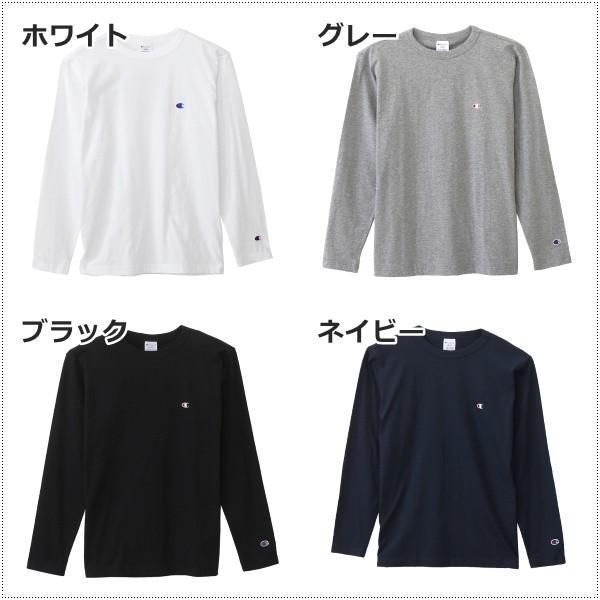 チャンピオン  左胸Cロゴ刺繍 ロングスリーブTシャツ  C3-J424|centas|02