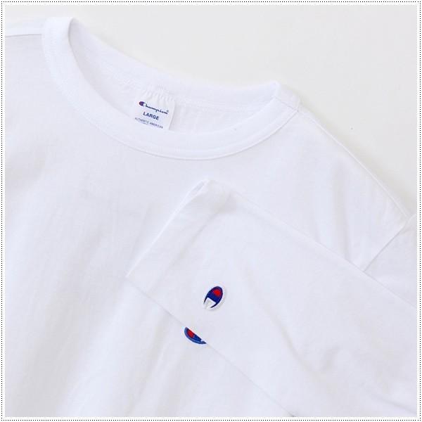 チャンピオン  左胸Cロゴ刺繍 ロングスリーブTシャツ  C3-J424|centas|03