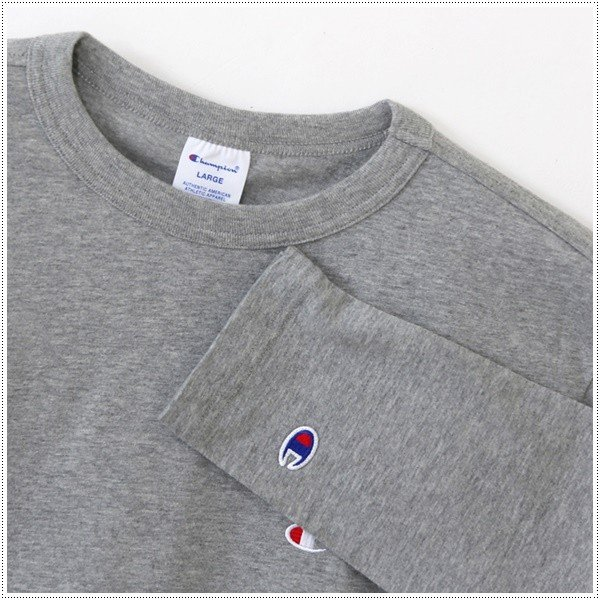 チャンピオン  左胸Cロゴ刺繍 ロングスリーブTシャツ  C3-J424|centas|04