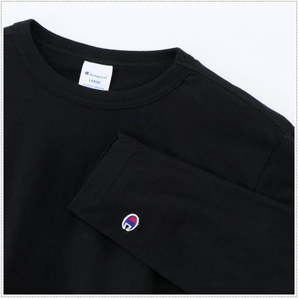 チャンピオン  左胸Cロゴ刺繍 ロングスリーブTシャツ  C3-J424|centas|05