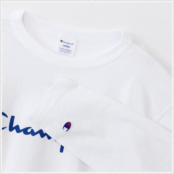 チャンピオン  ロゴプリント ロングスリーブTシャツ  C3-J426|centas|02
