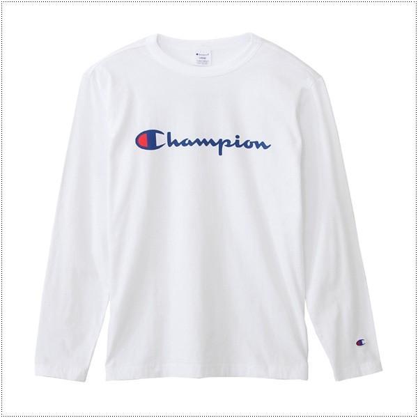 チャンピオン  ロゴプリント ロングスリーブTシャツ  C3-J426|centas|03